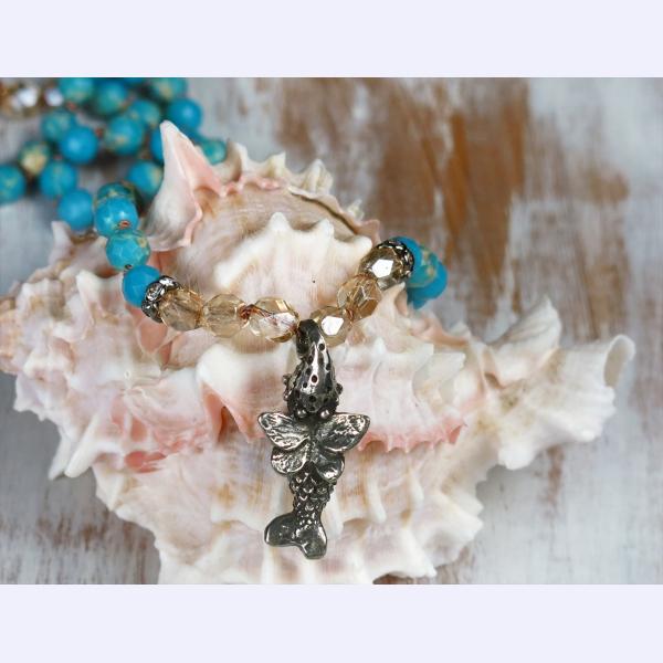 Handmade boho necklace