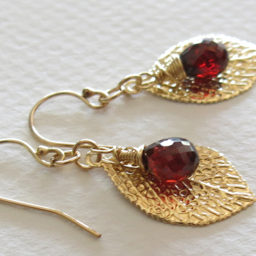 Handmade Mozambique Garnet earrings