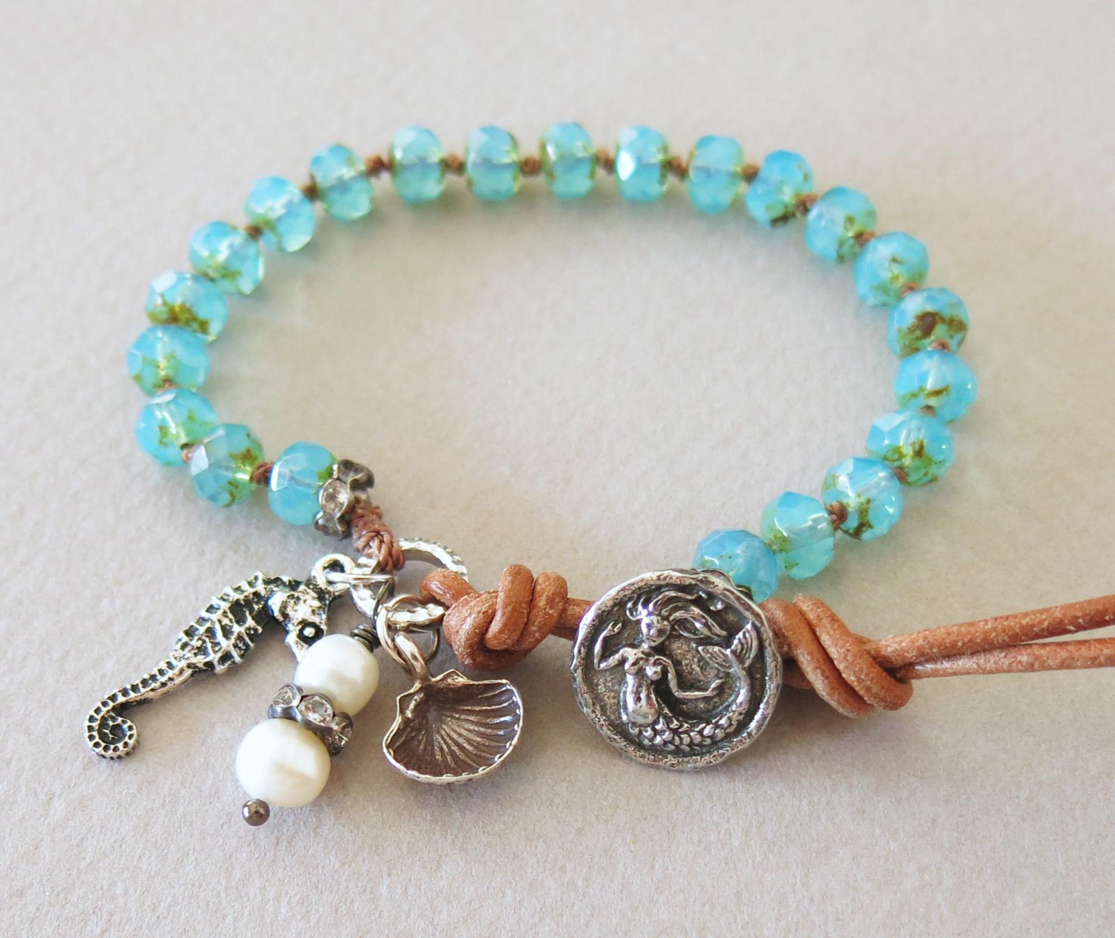 handmade boho mermaid bracelet handmade jewelry
