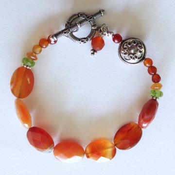 Carnelian Bracelet with Bali Silver