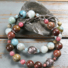 Amazonite and bali silver bracelet