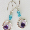 Amethyst and apatite earrings
