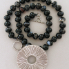 Black agate and Thai silver necklace