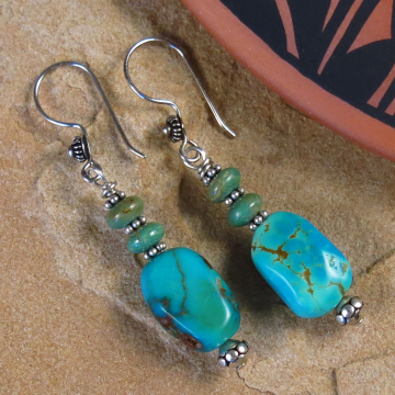 Handmade Kingman Turquoise Earrings