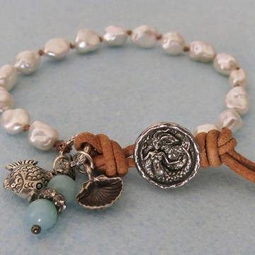 Boho Keishi Pearl Mermaid Bracelet