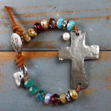 Boho Cross Bracelet