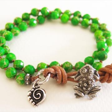 Boho Froggy Wrap Bracelet