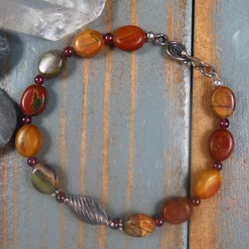 Handmade Red Creek Jasper Bracelet