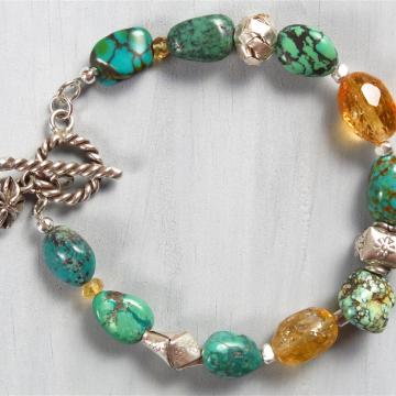 Handmade Nevada Turquoise Bracelet (RARE)